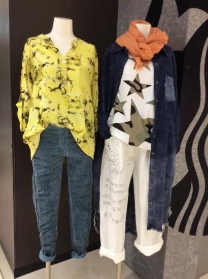 スプリング カジュアルスタイル インポート,リネン,麻,Tシャツ,デニムロングジャケット,七分袖,ブラウス,花柄