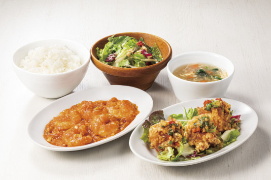 海老チリ&油淋鶏セット