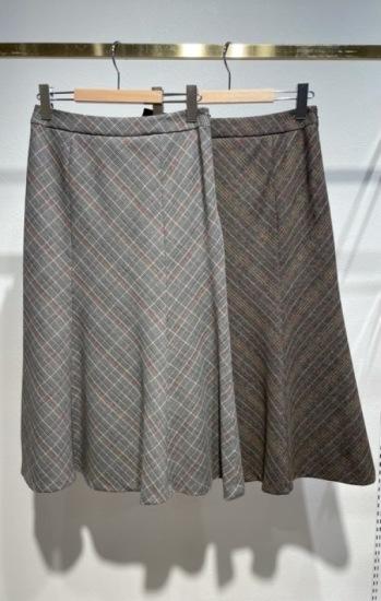 グレンチェックマーメイドスカート チェック,マーメイド,スカート,チェックスカート,マーメイドスカート